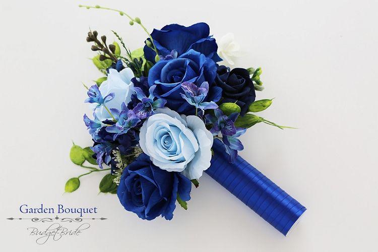 دسته گل عروسی آبی و آبی ملایم عروسی 2020