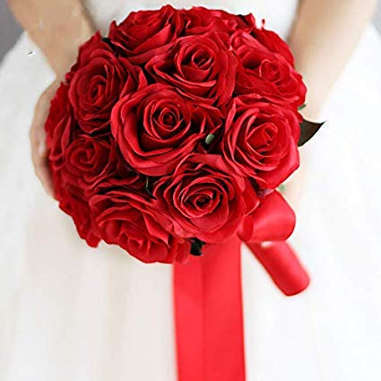 دسته گل عروسی قرمز 2020 خاص