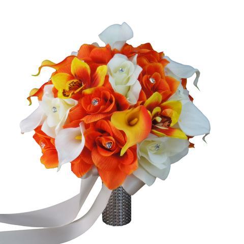 سته-گل-نارنجی-و-سفید-مخصوص-عروس-های-جذاب-ردر-سال-2020