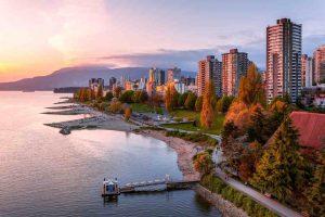 ساحل زیبای شهر ونکوور