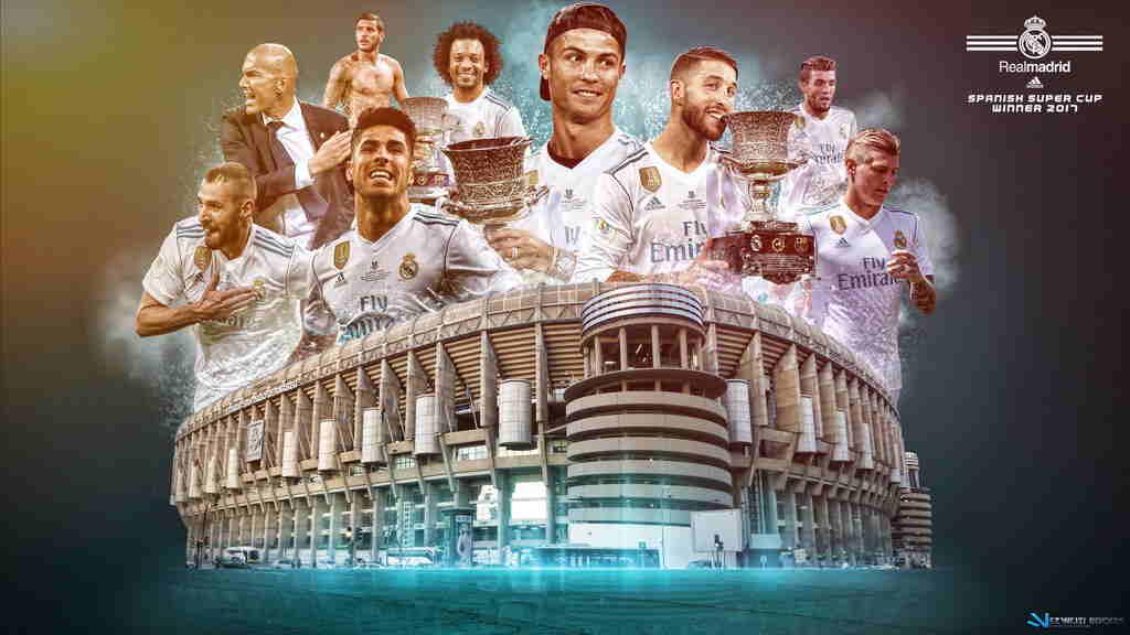 عکس اسطوره های رئال به همراه استادیوم آن ها