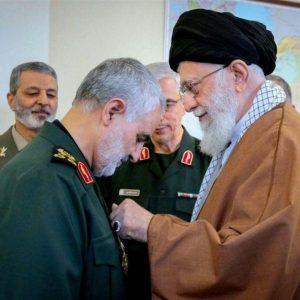 عکس پروفایل سردار سلیمانی و رهبری