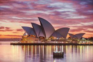 غروب زیبای سیدنی استرالیا