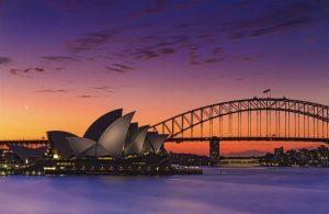 غروب زیبای شهر سیدنی
