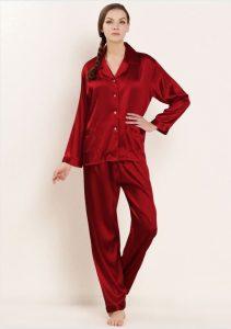لباس خواب زنونه قرمز