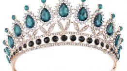 مدل تاج ۲۰۲۰ آبی فیروزه ای و نقره ای شیک برای عروس