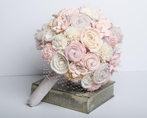 مدل دسته گل خاص و دیدنی شیک و ساده صورتی و سفید سال 99