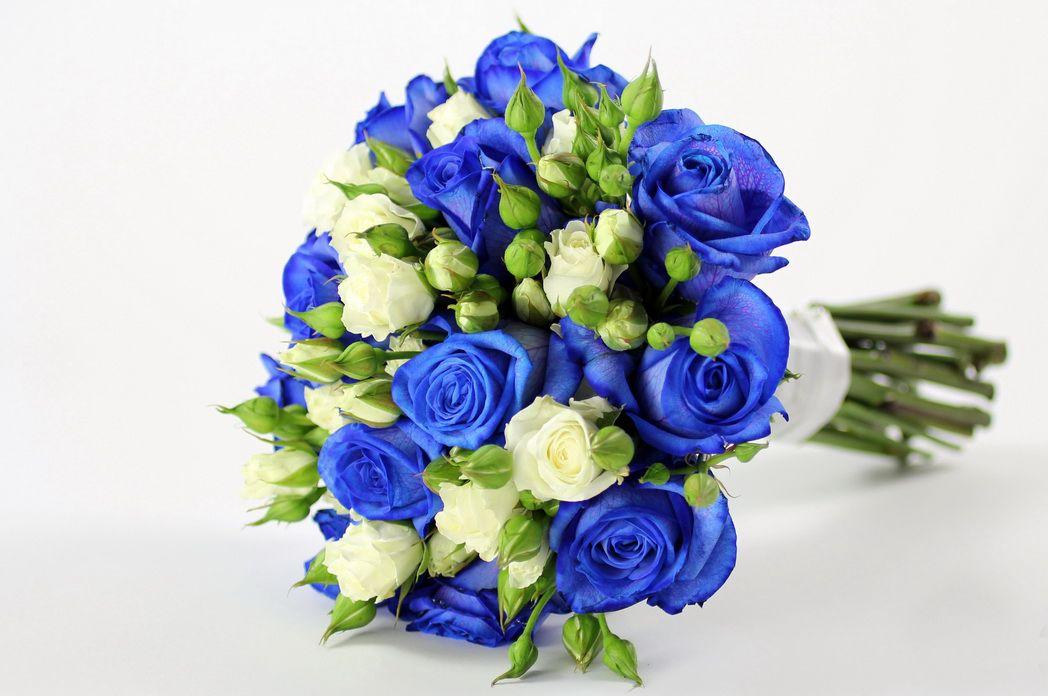 مدل دسته گل عروس ساده 99 و آبی