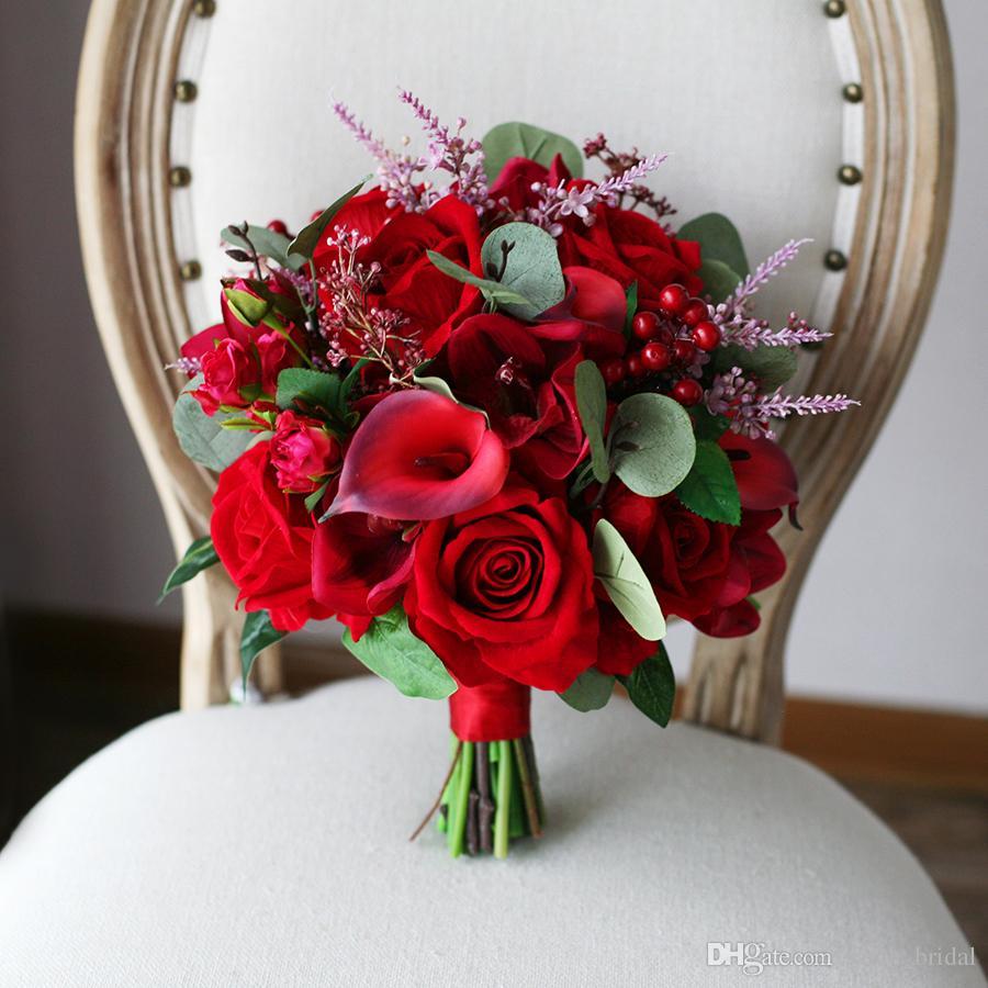 مدل دسته گل قرمز و خاص دیدنی شیک مخصوص سال 99
