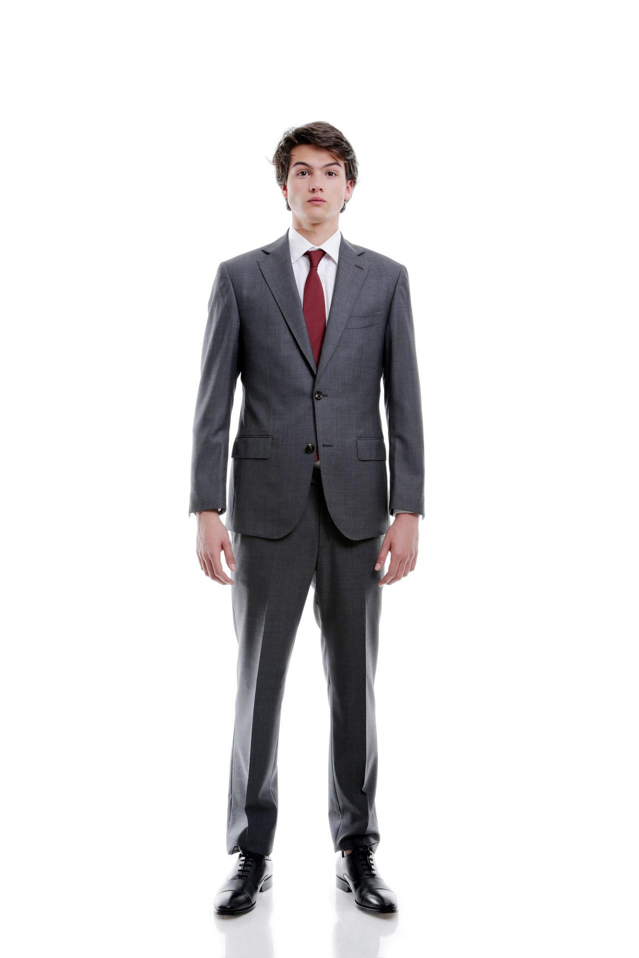 مدل کت و شلوار براق و شیک با کراوات قرمز 99
