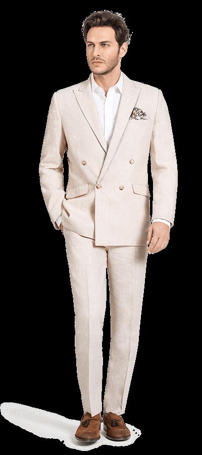 مدل کت و شلوار شیری با پیرهن سفید مناسب عید 99