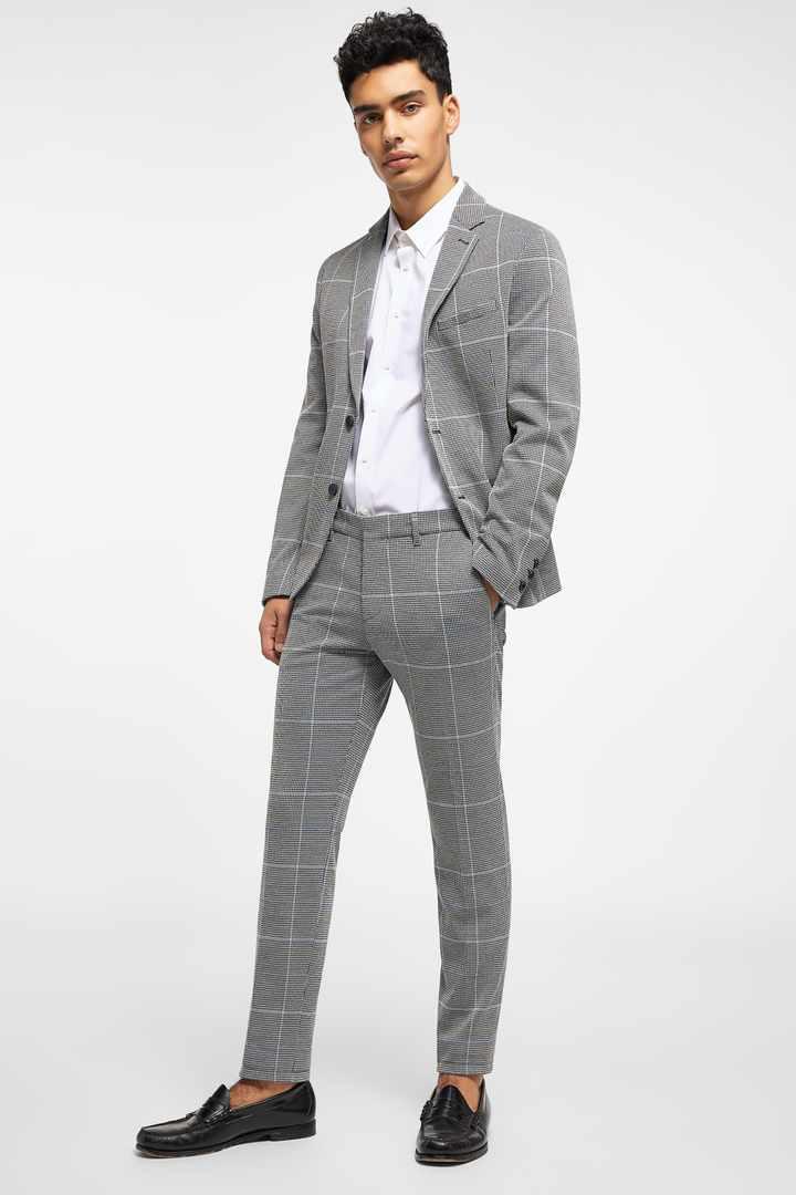 کت و شلوار خاکستری با پاچه کوتاه مردانه 99