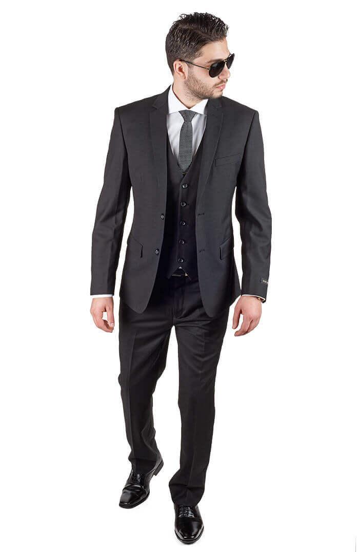 کت و شلوار شیک رسمی با کراوات مشکی رنگ مردانه سال 99