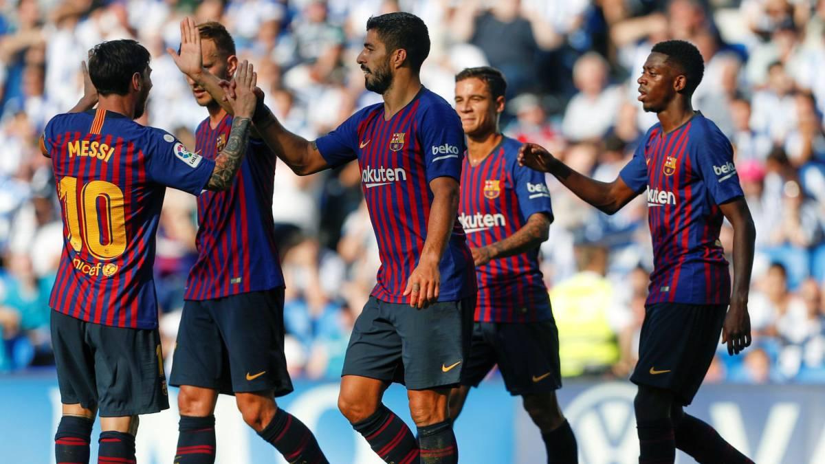 خوشحالی بعد از گل در لالیگای 2018 اسپانیا