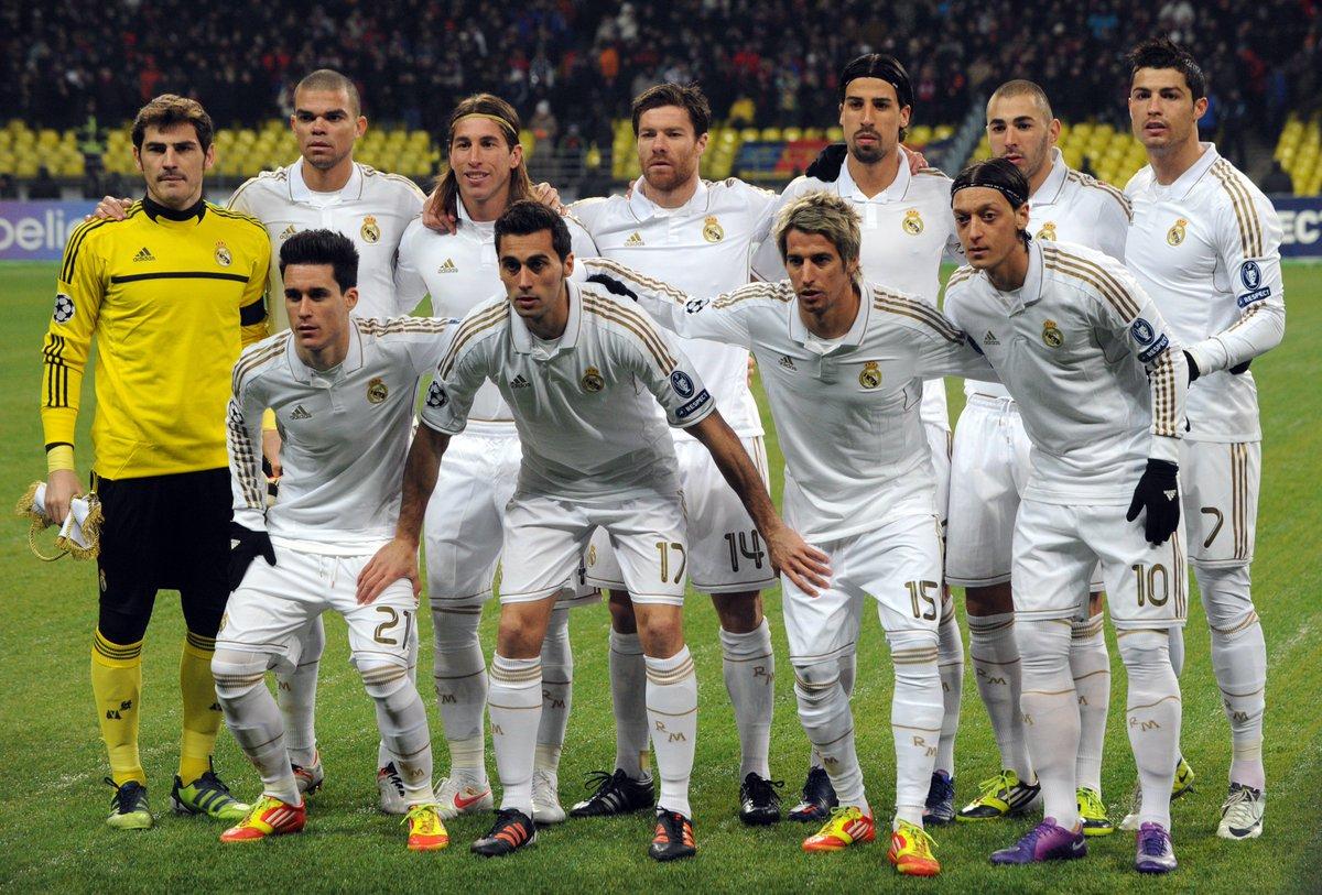 عکس تیمی بازیکنان رئال 2011