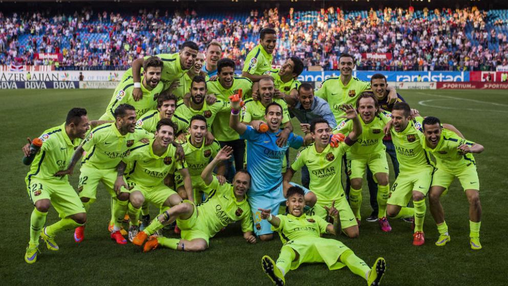 جشن قهرمانی بارسا در سال 2014