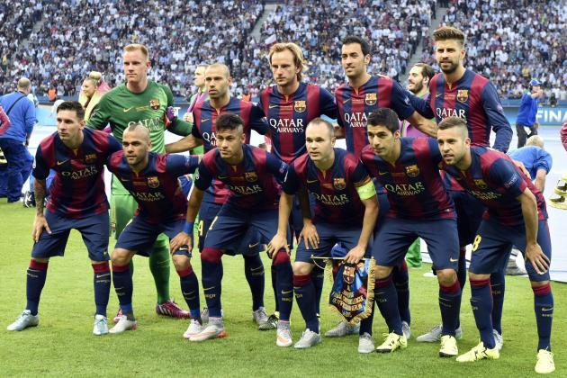 ترکیب قبل بازی 2014 در بارسلونا لالیگا