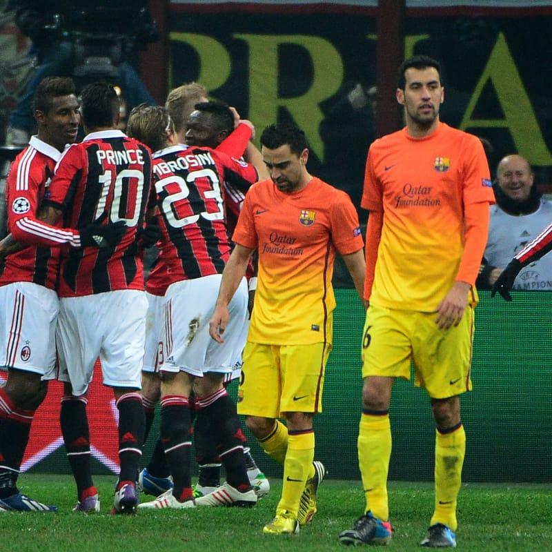 خوشحالی بازیکنان میلان 2012