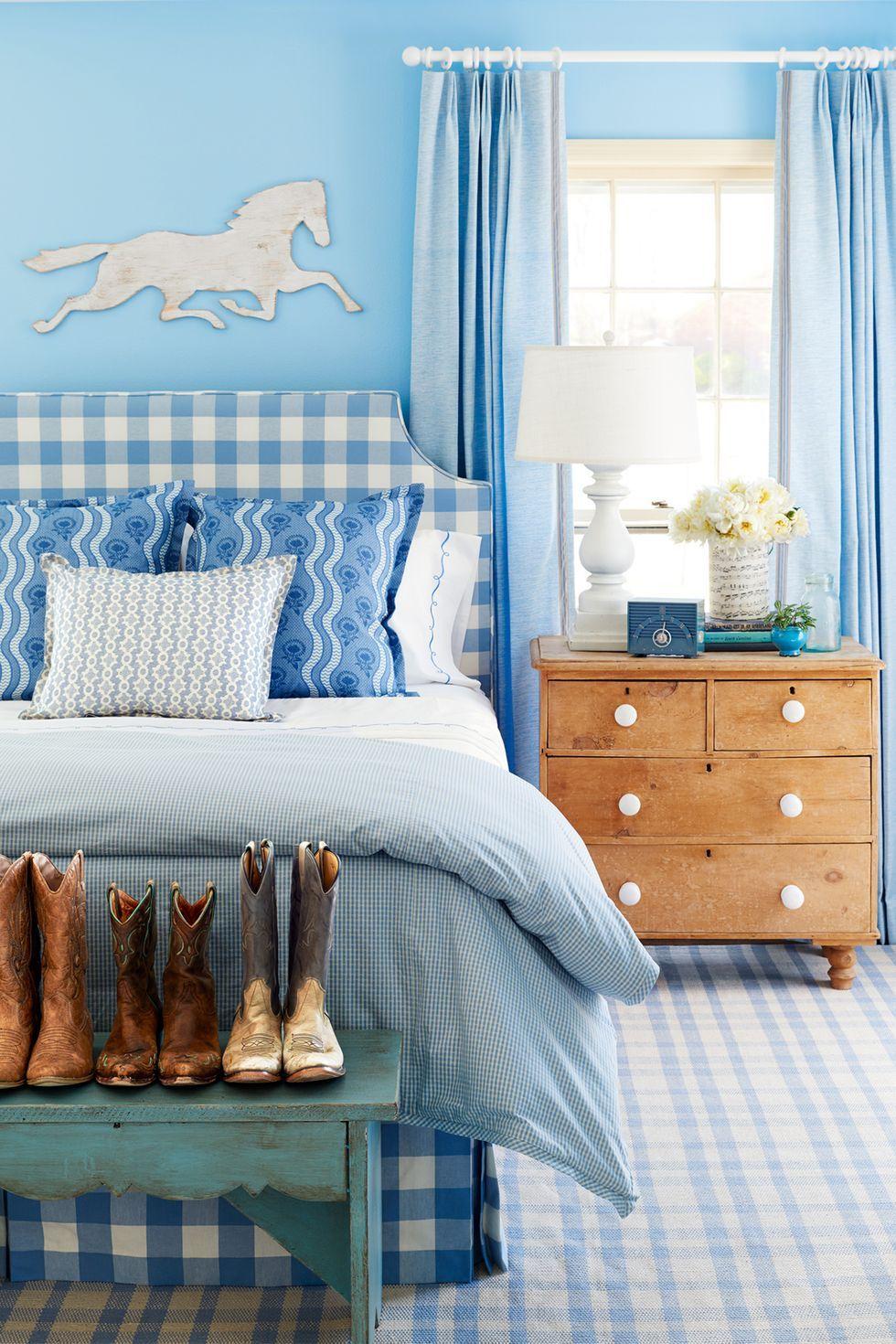 مدل اتاق خواب دیدنی آبی رنگ زیبا در سال 2020 مخصوص تینیجرها