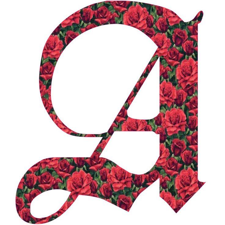 عکس پروفایل حرف A ترکیب با گل قرمز