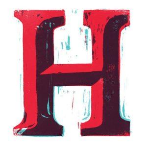 عکس پروفایل حرف h قرمز
