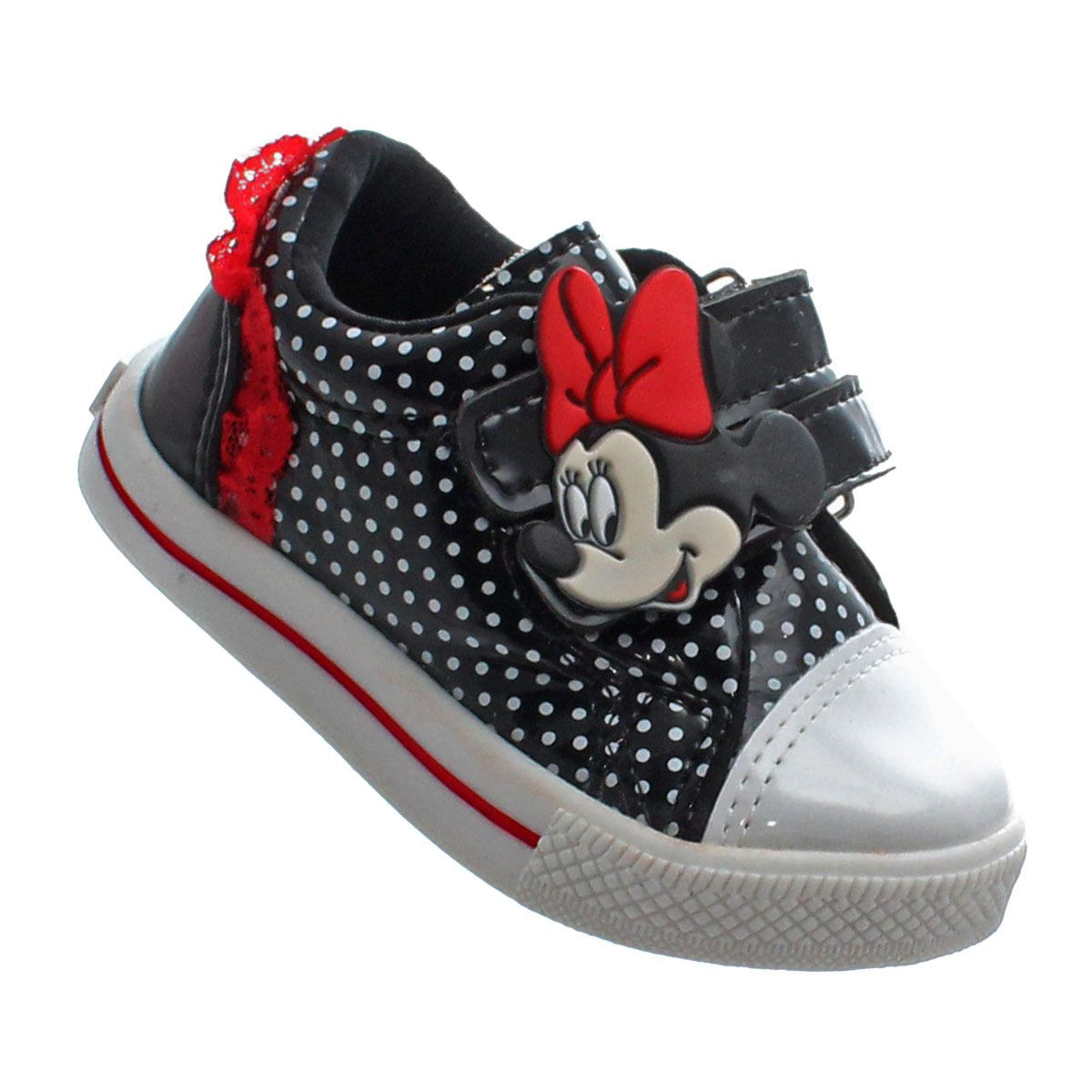 کفش زیبای بانمک دخترانه با نقطه های سفید و مشکلی 99