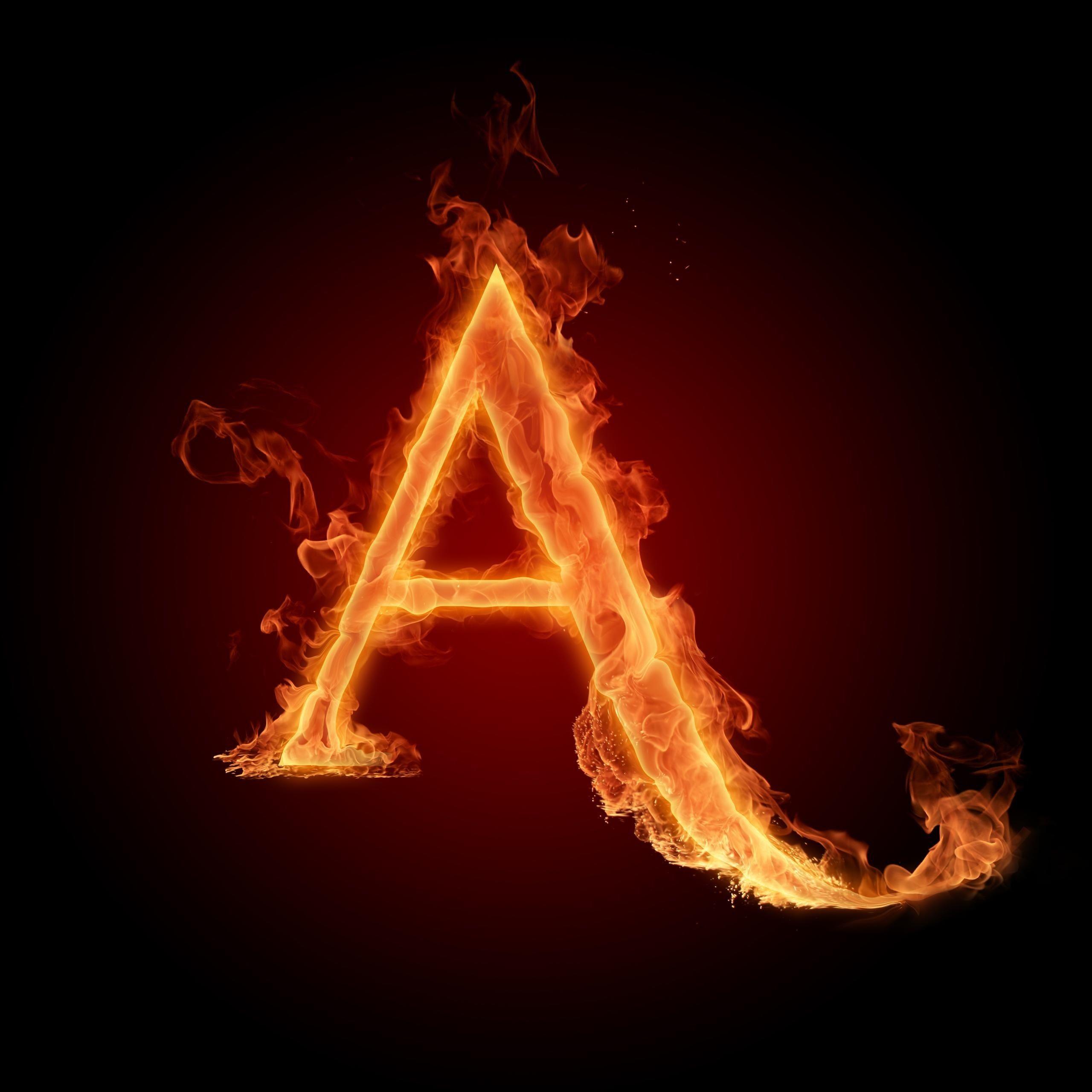 عکس پروفایل حرف a آتشین دیدنی