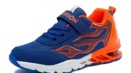 کفش دیدنی شیک و خاص با رنگ های نارنجی آبی سفید پسرانه بچه گانه ۲۰۲۰
