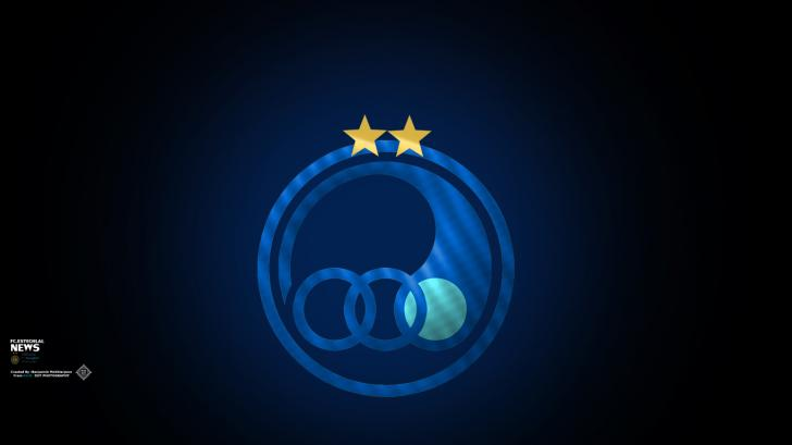 لوگو ساده با 2 ستاره استقلال