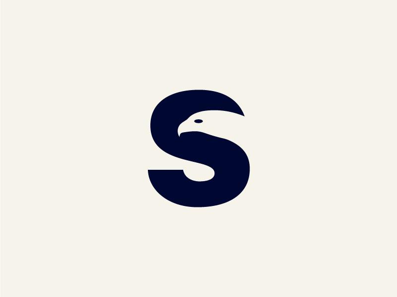 ترکیب حرف اس انگلیسی و نماد عقاب برای پروفایل شیک و دیدیتن