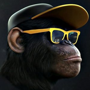 عکس پروفایل میمون عینکی