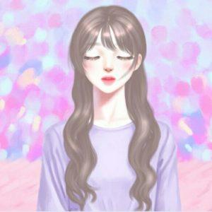 عکس پروفایل کره ای دخترونه بنفش