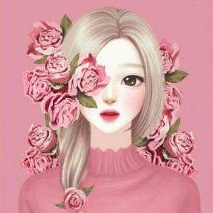 عکس پروفایل کره ای دخترونه نقاشی