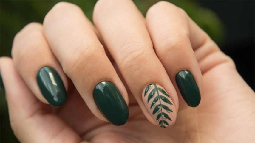 مدل لاک سبز با خوشه گندم