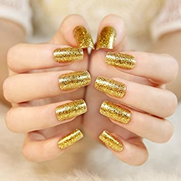 مدل لاک طلایی رنگ براق و زیبای مجلسی