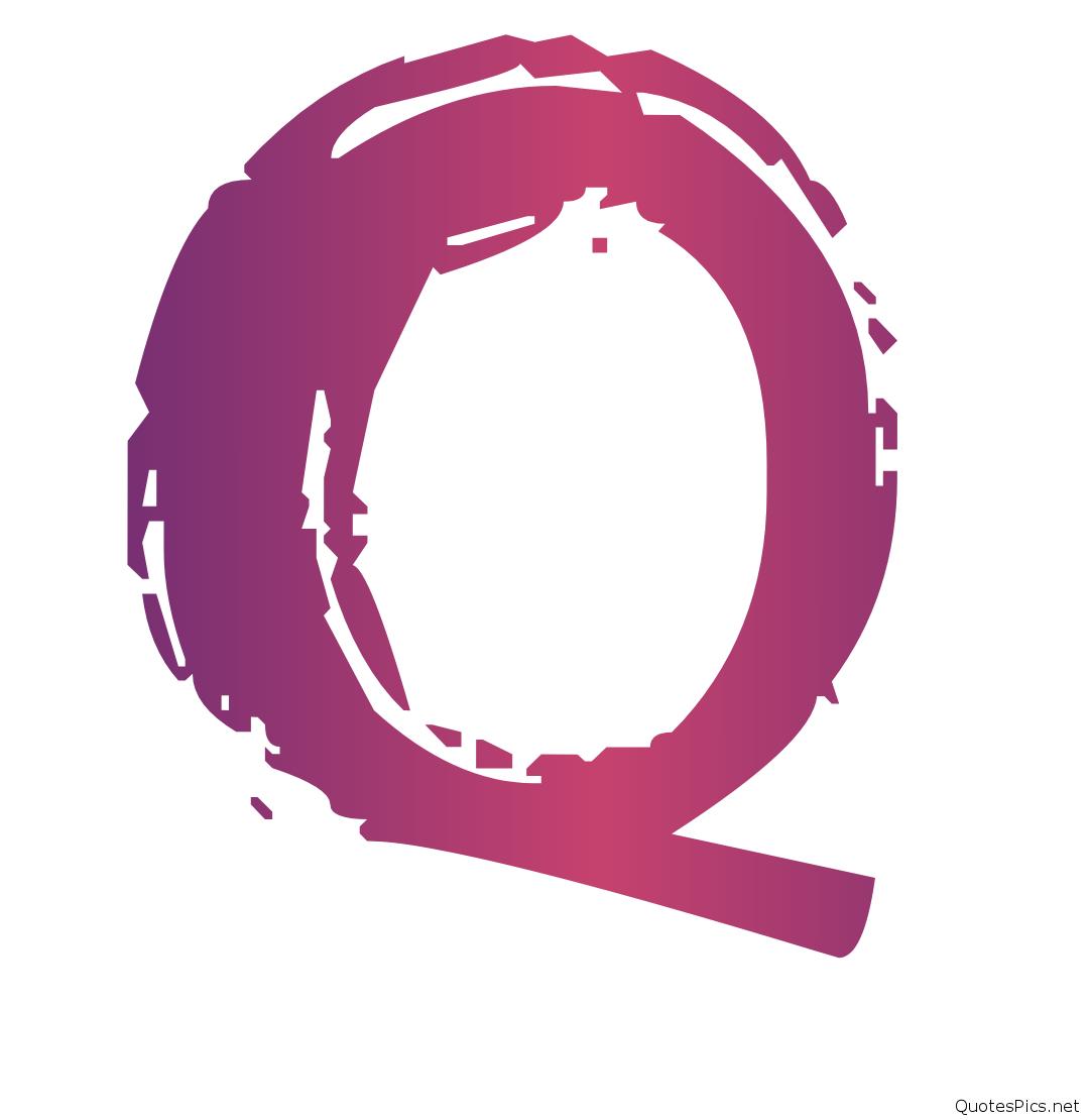 پروفایل حرف q با رنگ بنفش شیک و دیدنی با فونت خاص