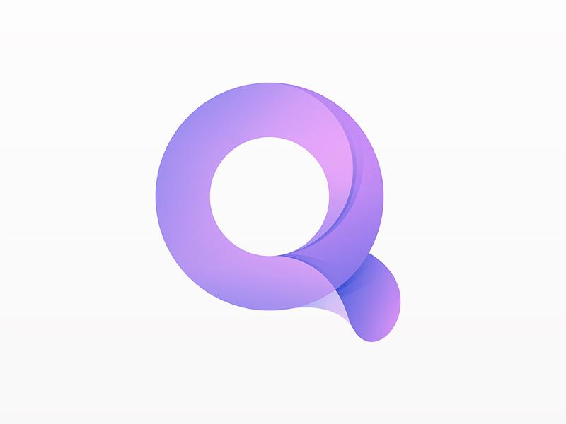 پروفایل-Q-با-رننگ-بنفش-شیک-و-خاص-با-استایل-و-فونت-مخصوص-انگلیسی