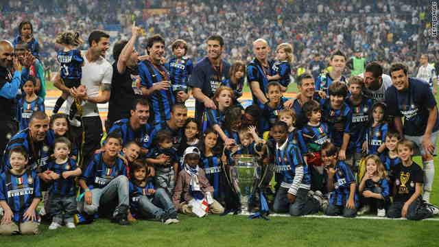 جشن قهرمانی با شکوه در سال 2010 برای تیم میلانی در اسپانیا