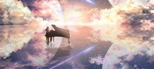عکس پروفایل پیانو در آسمان