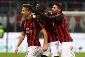 خوشحالی بازیکنان میلان در سال 2018