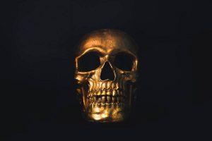 عکس پروفایل جمجمه طلایی