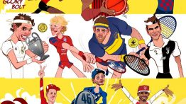 کاریکاتور اسطوره های دنیای ورزش و تیم های موردعلاقه شان