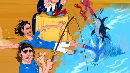 کاریکاتور زیبا از نستا و کاناوارو مدافعان ایتالیایی