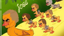 کاریکاتور گدشتن ۱۰ سال از آخرین قهرمانی مورینیو