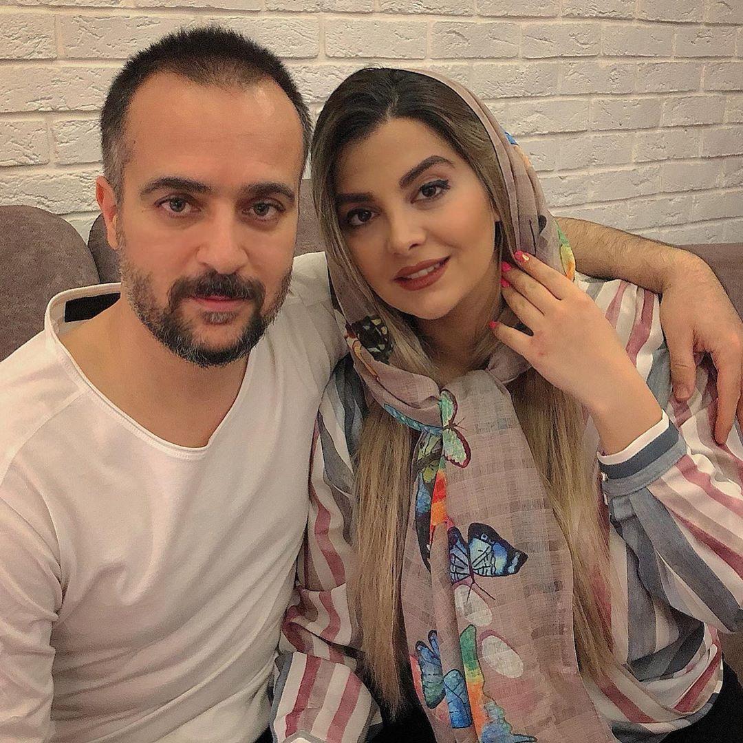 عکس جذاب مونافائزپور و همسرش