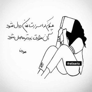 عکس نوشته شعر مولانا چون که اسرارت نهان در دل شود