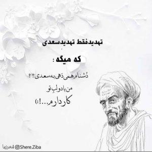عکس پروفایل شعر سعدی زیبا