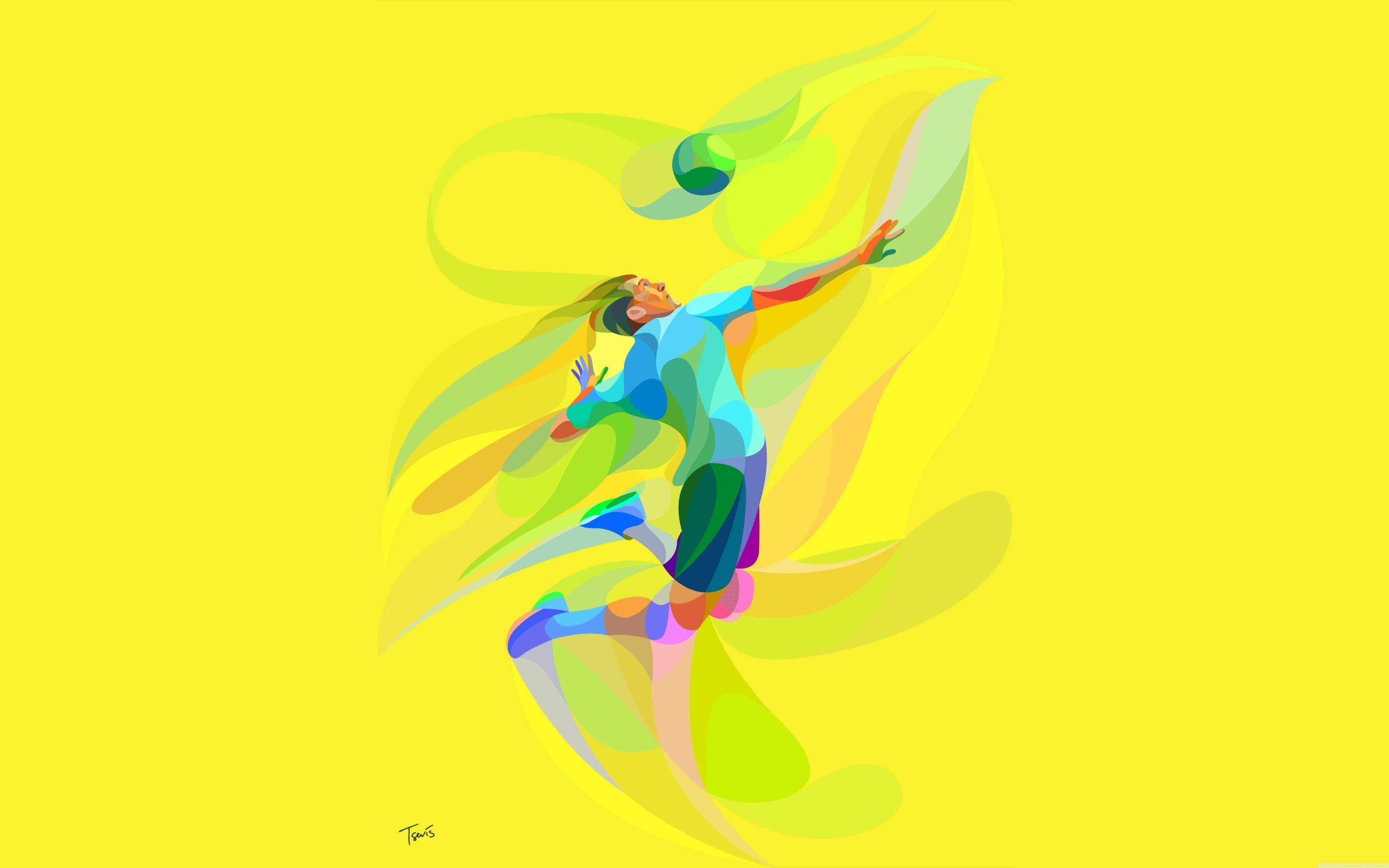 پروفایل توپ زرد والیبال با پس زمینه گرافیکی و دیدنی