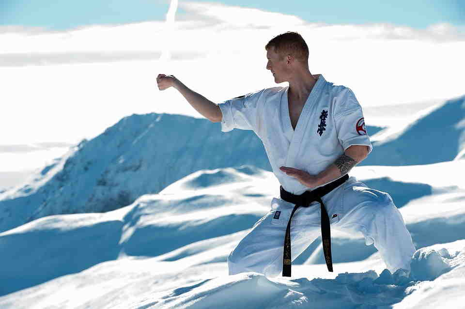 پروفایل دیدنی کاراته در برف شیک