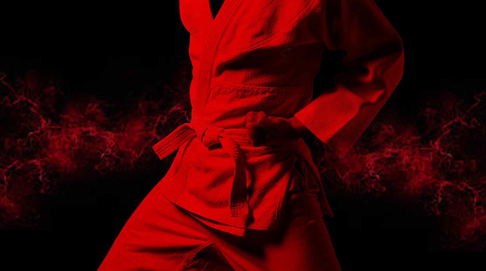 پروفایل کاراته قرمز با رنگ پس زمینه دیدنی